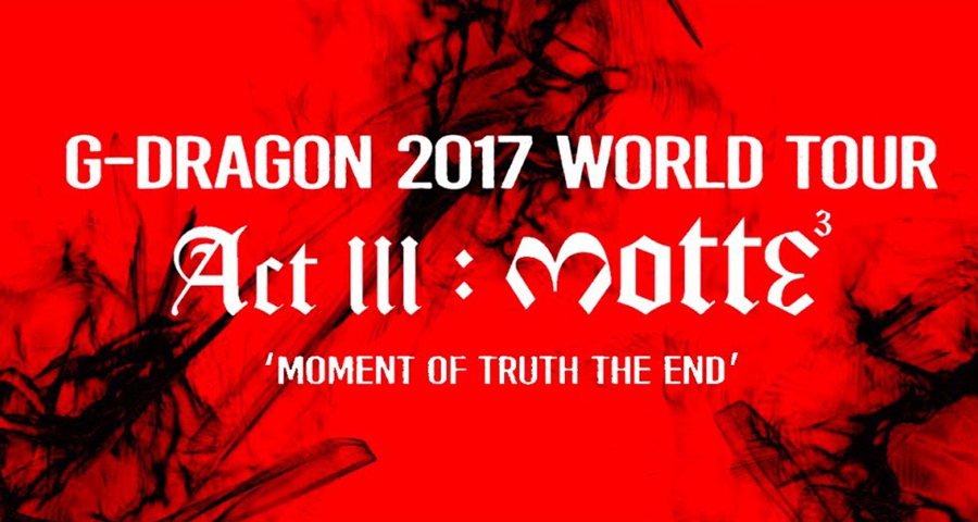 Concert – G-Dragon à Paris (28.09.2017)